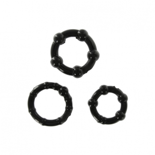 Stay Hard - 3 stuks - Cockring (Black)