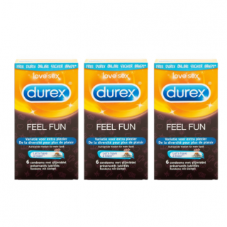 Durex Emoji Feel Fun Trio (18st)