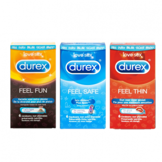 Durex Emoji Feel Fun Trio (Feel Fun-Feel Thin-Feel Safe)