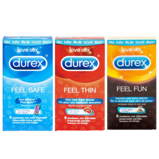 Durex Love Collection (Feel Thin - Fun - Safe)